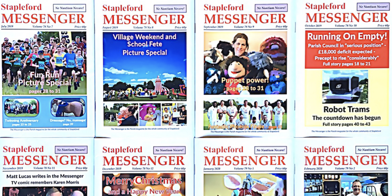 Messenger front covers - 800 x